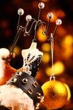 Czarnej rzemiennej bransoletki atrapy piłki zabawki złocisty konik obrazy royalty free