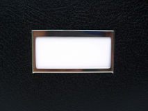 czarnej skrzynki etykiety białe Zdjęcia Stock