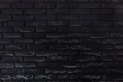 Czarnej starej ściany z cegieł szczegółowa tekstura dla tła obraz stock