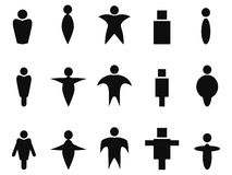 Czarni abstrakcjonistyczni ludzie ikona symbolu ilustracja wektor