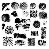 Czarni atramentów punkty odizolowywający na tle ilustracja wektor