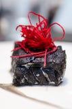 Czarni beetroot i dorsz fotografia stock