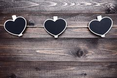 Czarni clothespins zdjęcie royalty free