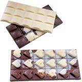 Czarni czekoladowi bary odizolowywający na bielu zdjęcie royalty free