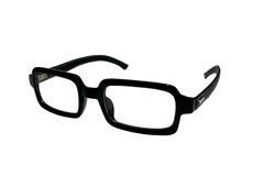 Czarni eyeglasses są kwadratowi Zdjęcie Royalty Free