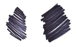 Czarni główna atrakcja lampasy, sztandary rysujący z markierami Eleganccy główna atrakcja elementy dla projekta zdjęcia royalty free