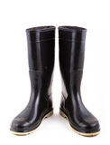 Czarni gumowi buty Obraz Stock