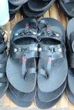 Czarni gumowi buty są dostępni Zdjęcia Stock