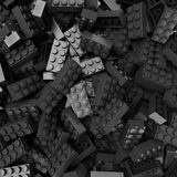 Czarni i szarzy plastikowi bloki zdjęcie stock