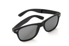 Czarni klasyczni plastikowi okulary przeciwsłoneczne obrazy stock