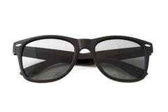 Czarni klasyczni plastikowi okulary przeciwsłoneczne fotografia royalty free