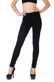 Czarni leggings w piękno mody pojęciu Zdjęcie Stock
