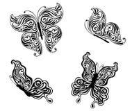 Czarni motyle ilustracja wektor