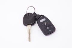 Czarni samochodów klucze i kluczowego łańcuchu alarm ilustracji