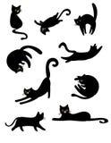 Czarni uroczy koty Ilustracja Wektor