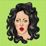 czarni włosy portreta kobiety potomstwa Zdjęcie Royalty Free