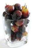 Czarni winogrona w szkle Obraz Royalty Free