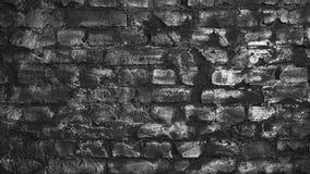 Czarno biały ceglana ściana tekstury abstrakcyjna Zdjęcia Royalty Free