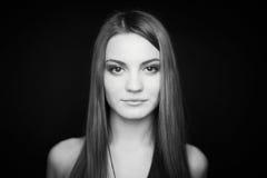 Czarno biały piękno fotografia stock