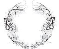 czarno białe arabeskowy ramy Fotografia Royalty Free