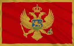 Czarnogóra bandery royalty ilustracja