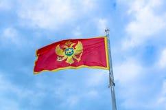 Czarnogóra bandery Zdjęcie Royalty Free