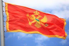 Czarnogóra bandery Obrazy Stock