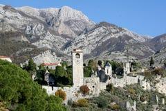 Czarnogóra bar starego miasta. Fotografia Royalty Free