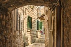 Czarnogóra budva starego miasta Pierwszy wzmianka ten miasto - więcej niż 26 wieków temu Obraz Royalty Free