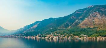 Czarnogóra kotor podpalany kotor Montenegro ranek czas Obrazy Royalty Free