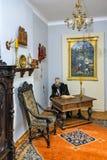 Czarnolas, Polonia - interior de la casa señorial histórica en Czarnolas que recibe el museo de Jan Kochanowski fotografía de archivo libre de regalías
