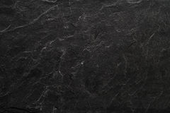 Czarny łupku kamienia talerza tło Zdjęcie Royalty Free
