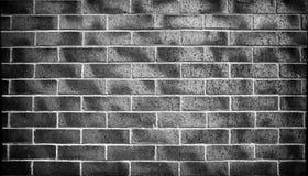 Czarny ściany z cegieł tło, tekstura obrazy stock