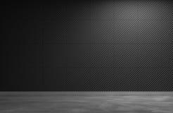 Czarny ścienny tła 3d ściennego panelu tła 3d rendering Fotografia Royalty Free