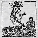 czarny śmierć ilustracja wektor