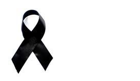 Czarny świadomość faborek Opłakiwać i czerniaka symbol Obrazy Stock