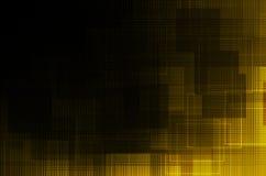 Czarny żółty abstrakcjonistyczny tło royalty ilustracja