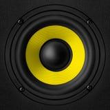 Czarny & żółty mówca Obrazy Royalty Free