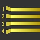 Czarny żółty projekta szablon Zdjęcia Stock