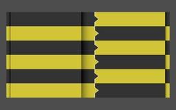 Czarny żółty projekta szablon Obraz Royalty Free