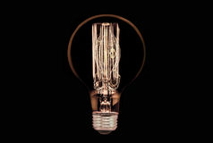 czarny żarówki płonący światło Zdjęcie Stock
