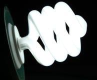 czarny żarówki skuteczny światło Zdjęcie Stock