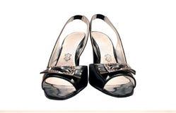 czarny żeńscy buty Zdjęcie Stock