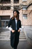 Czarny żeński piękny model czarnooki twarzy seksowna kobieta stylowa mody Obraz Royalty Free