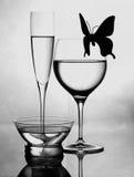 czarny życia wciąż biel Fotografia Royalty Free