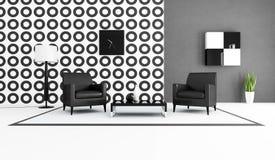 czarny żywy izbowy biel ilustracji