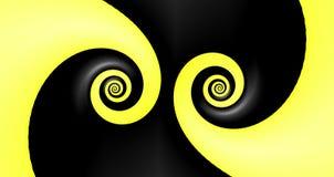 czarny abstrakci kolor żółty Zdjęcie Royalty Free