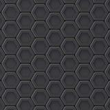 Czarny abstrakcjonistyczny heksagonalny tło 3d Obraz Stock