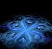 Czarny abstrakcjonistyczny tło z sześciokąta fractal teksturą Błękitny ic royalty ilustracja