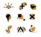 czarny abstrakcyjne desi żółty Obrazy Royalty Free
